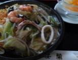 皿うどんと杏仁豆腐
