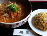坦々麺と焼飯セット