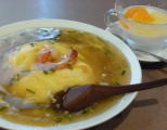 天津飯と杏仁豆腐
