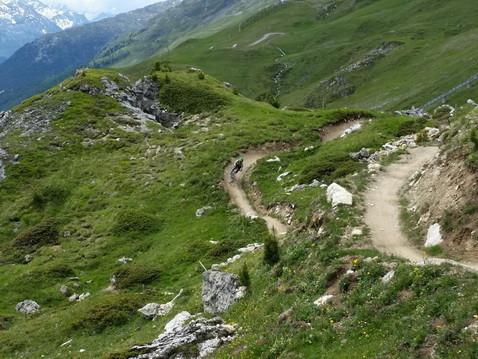 Abschluss der Flow Trail Corviglia
