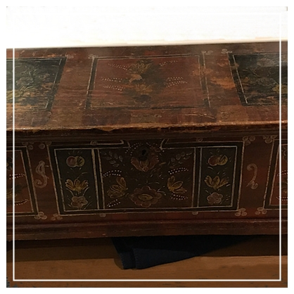 A Long North European Decorated Chest