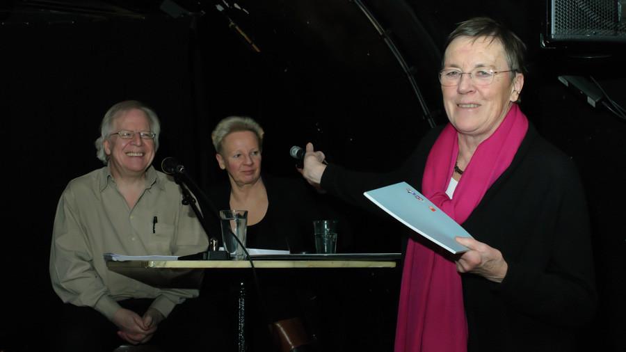 Marc Mandel, Sigrid Awizio und Elke Glenewinkel (vom Kellerclub)