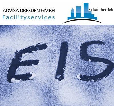 Winterdienst. Logo von ADVISA-Service Reinigungsfirma Dresden GmbH