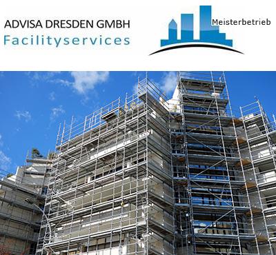 Neubau vor der Fertigstellung. Baureinigung und Bauendreinigung kann jetzt beginnen in Dresden. Logo von ADVISA-Service Reinigungsfirma Dresden GmbH