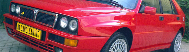 Lancia Delta Integrale, youngtimer detailen, lakverzegeling, glasscoating, intensief polijsten | A1 Car Cleaning