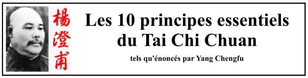 Les 10 principes du TaiJi