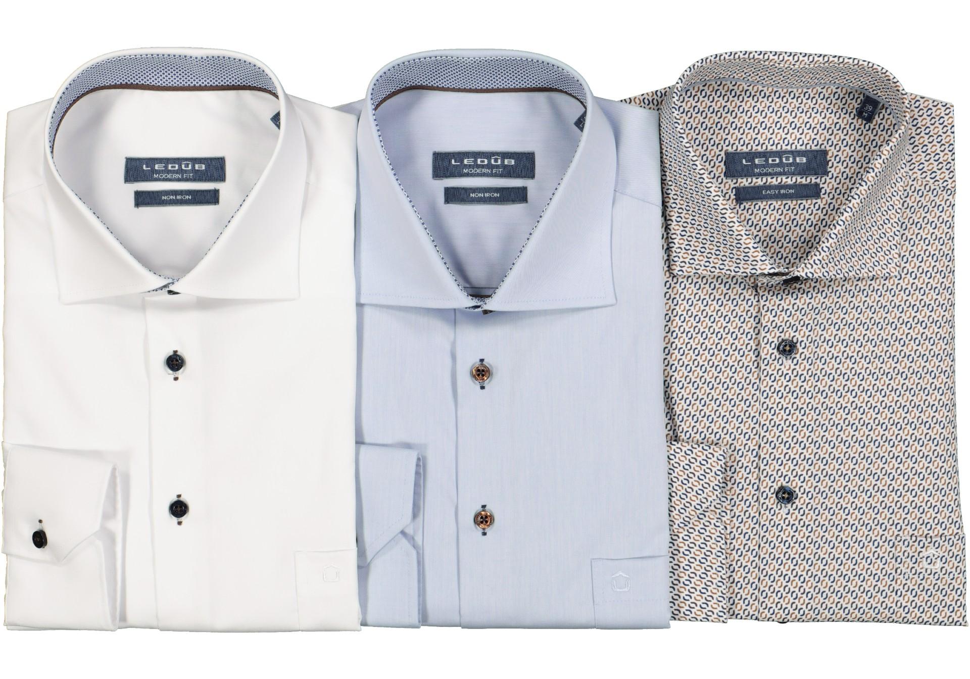 Strijkvrij overhemd - Ledub overhemden