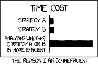 xkcd: efficiency
