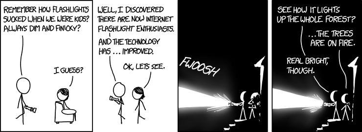 xkcd: flashlights