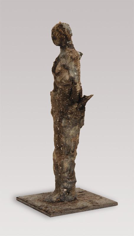Ohne Titel | 2010 | Ton, Holz, Metall, Wachs | 29 cm
