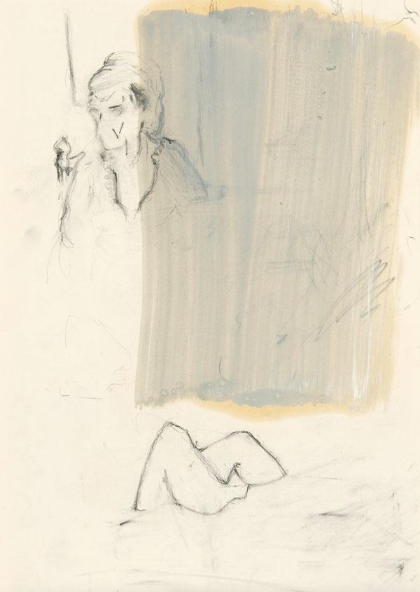13  |  Ohne Titel  |  2011  |  Graphit, Öl auf Papier  |  29,7 x 21 cm