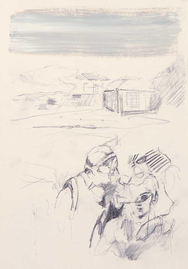 7  |  Ohne Titel  |  2007  |  Graphit, Öl auf Papier  |  29,5 x 21 cm