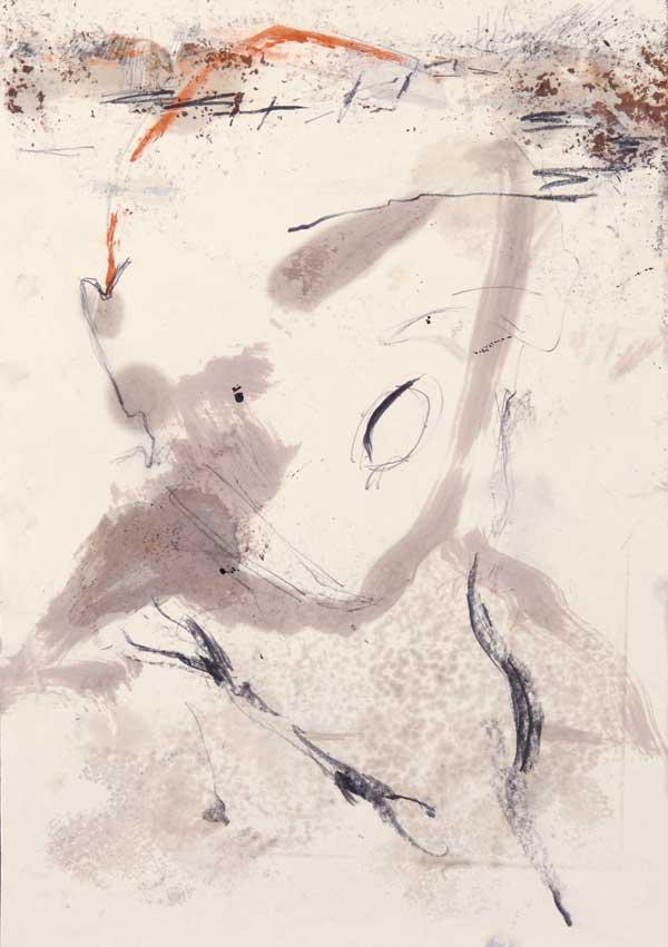 5  |  Ohne Titel  |  2008  |  Graphit, Öl auf Papier  |  29,5 x 21 cm