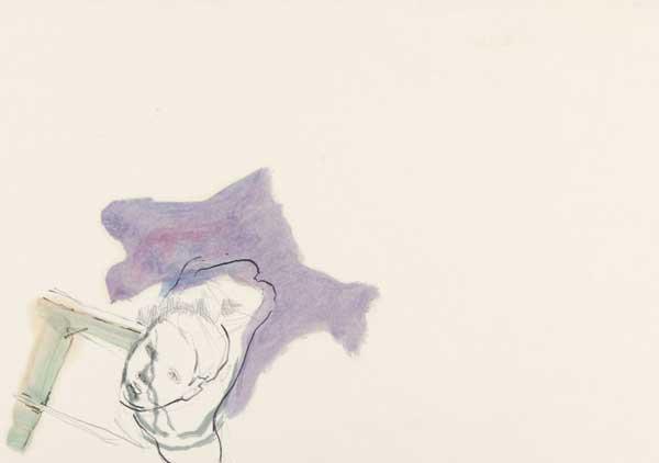 3  |  Lerchenlenkerin  |  2008  |  Graphit, Öl auf Papier  |  29,5 x 21 cm