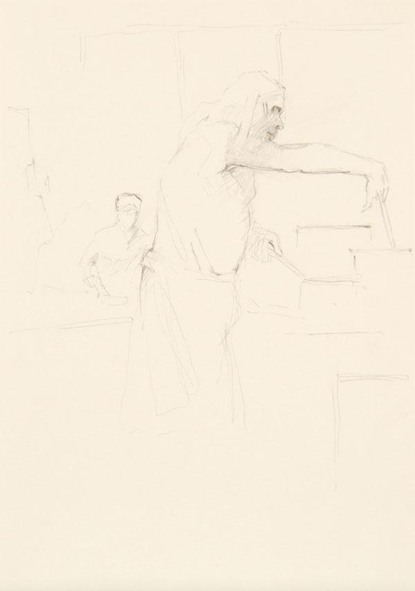 12  |  Ohne Titel   | 2012  |  Graphit auf Papier  |  29,7 x 21 cm
