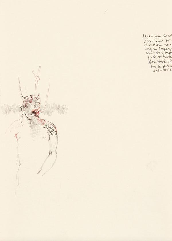 11  |  Ohne Titel  |  2011  |  Graphit, Tusche auf Papier  |  29,7 x 21 cm