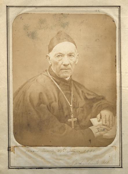 """P. Carl Schmid, Abt von Mariastein (Foto vom 23. Jänner 1860 aus dem """"Familienbuch"""" im Staatsarchiv Aarau)"""
