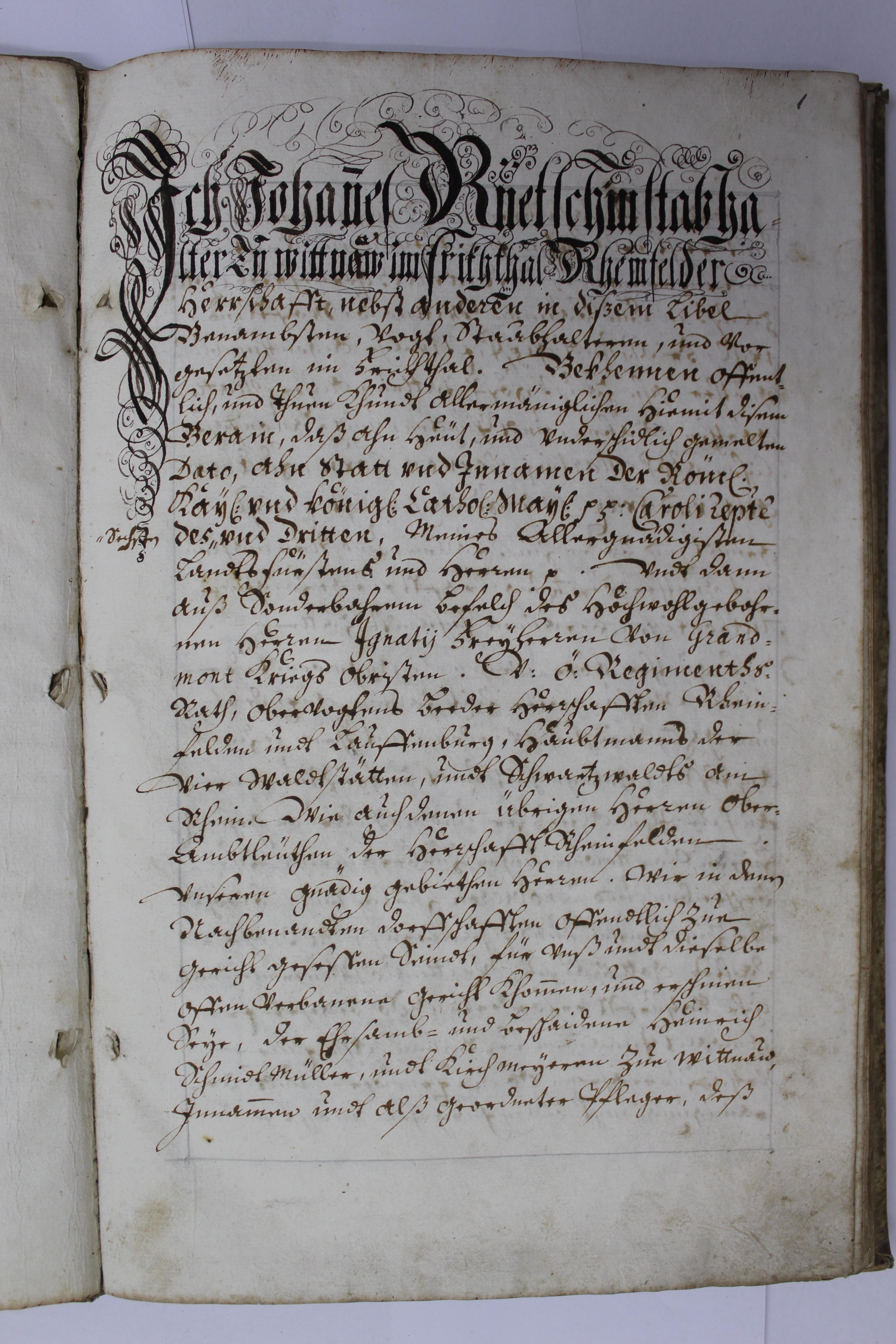 Gemeindearchiv Wittnau: Zinsbereinigung von 1774