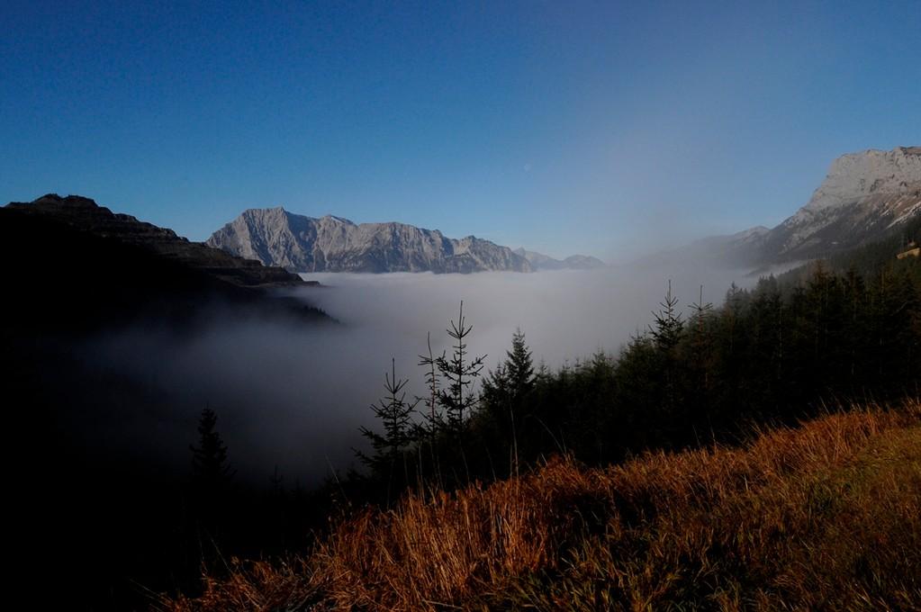 Seltener Nebel über Eisenerz