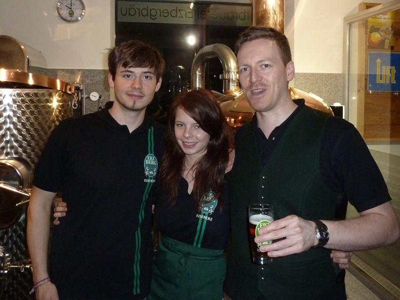 Jakob, Nicole und Andreas, die fleissigen Helfer