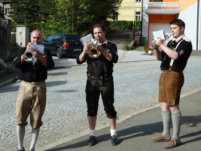 Die Blechbläsertruppe vom Lemmer Günther
