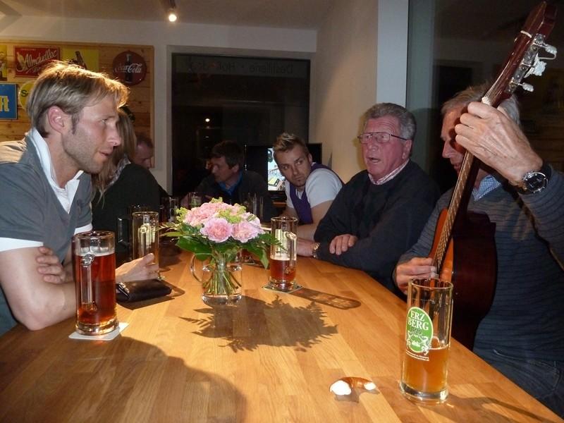 .... mit Christian Hartl einen Dreier