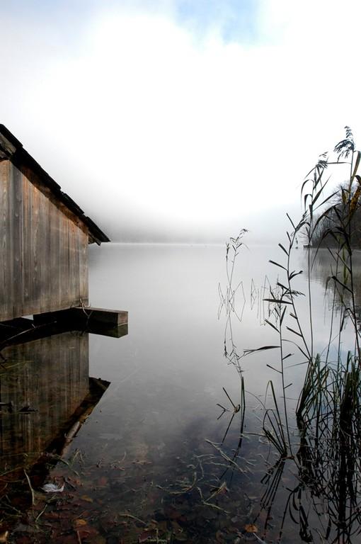 Bootshütte am See