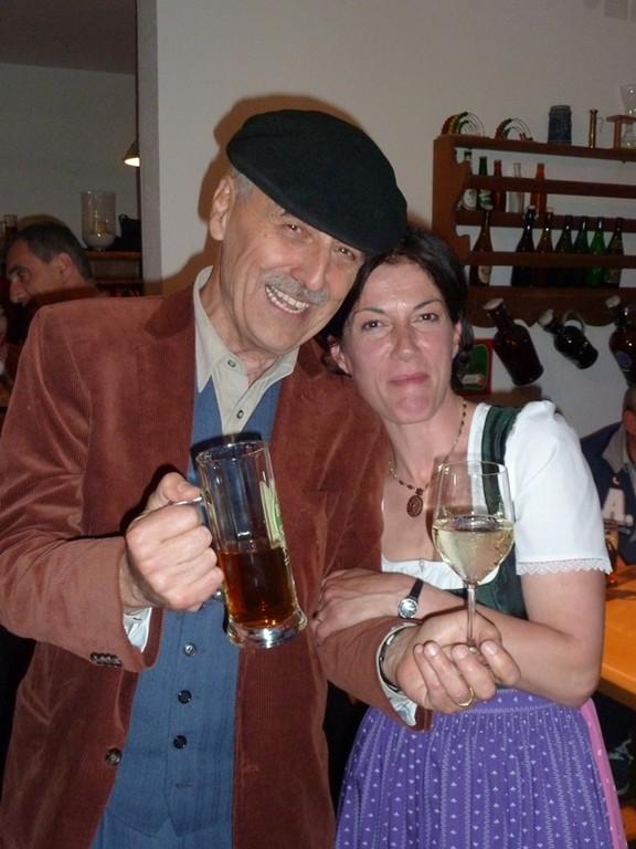 Gunther Hasewend mit Bier! (und Welsch)