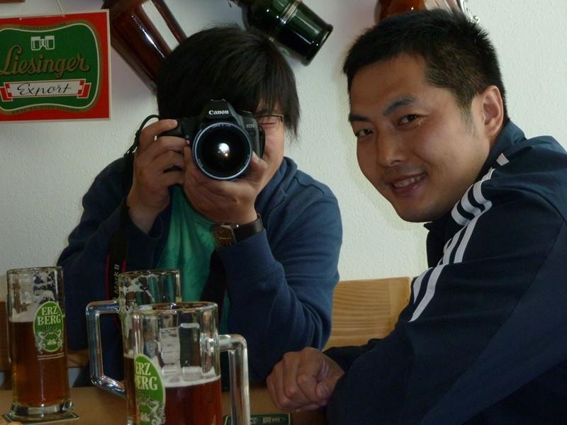 Man fotografiert sich gegenseitig