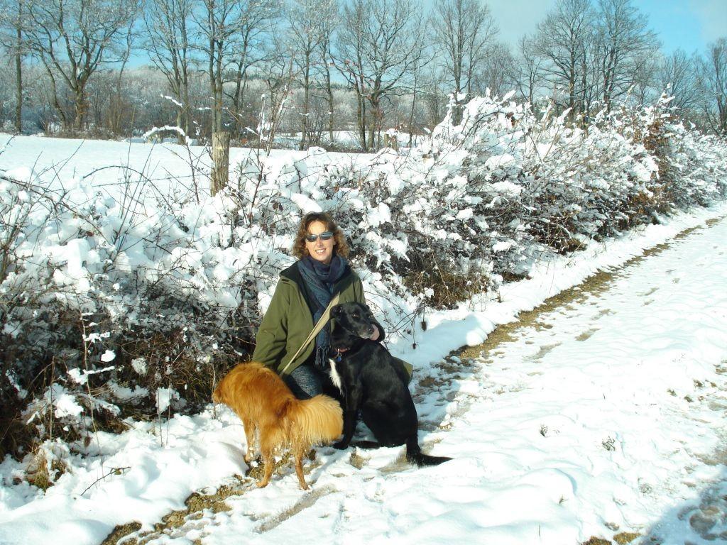 Spazier im tiefen Schnee im Jura