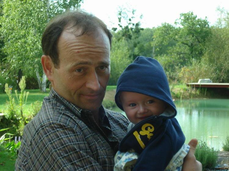 Marcel ist zu Besuch mit seiner Familie