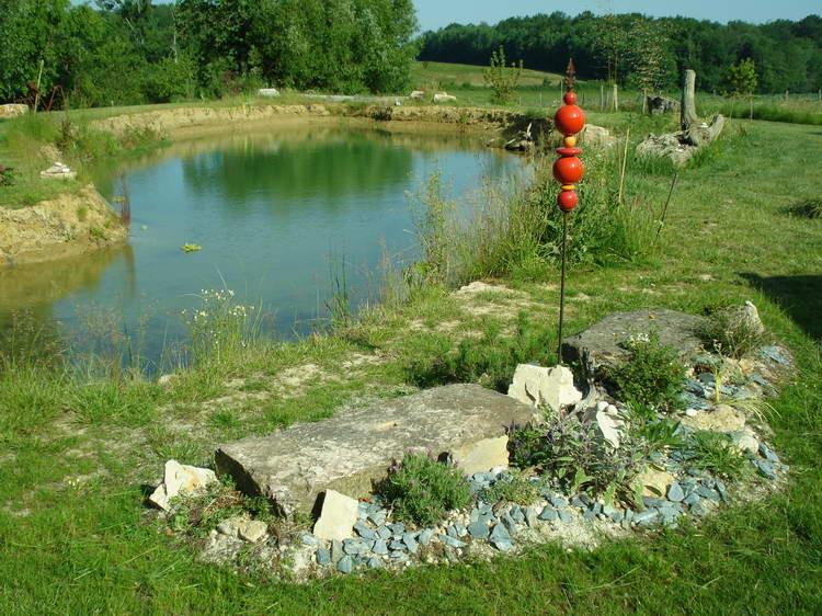 Der Steingarten macht sich gut