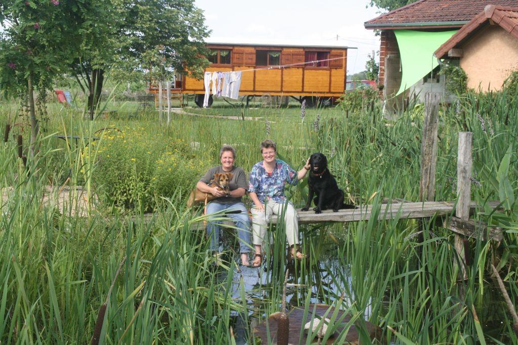 Gäste in der Roulotte: Simone und Mechtild