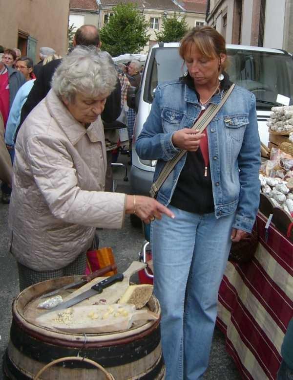 Auf dem Markt in Louhans