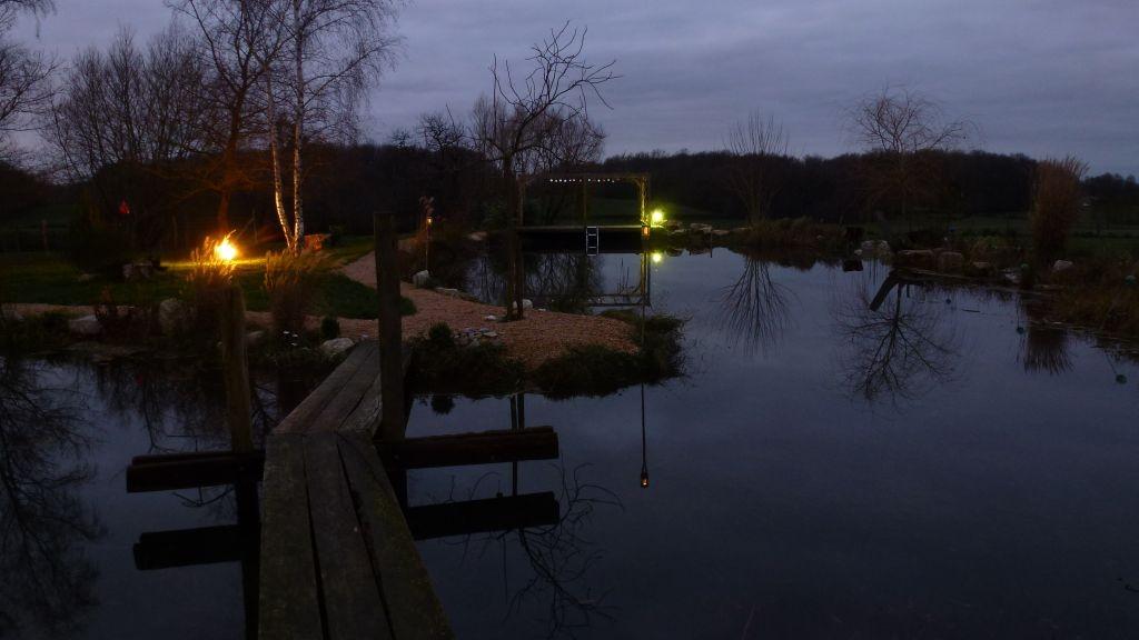 Abendstimmung über dem Teich