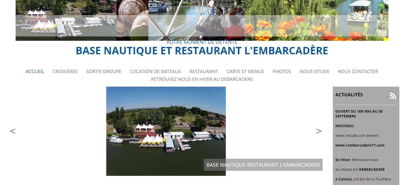 Restaurant L'Embarcadère à La Truchère (seulement en été)