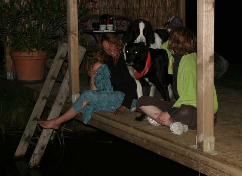 Abendbad am Teich