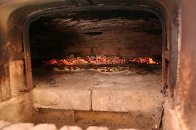 Blick in den Ofen