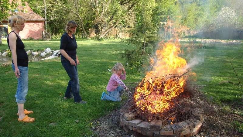 Das Winterholz wird verbrannt