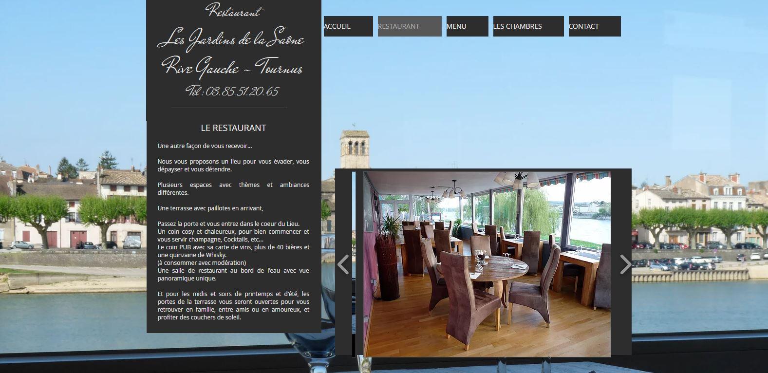 Restaurant Les jardins de la Saône in Tournus