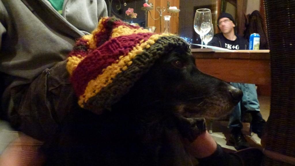 Luke mit Noahs Mütze