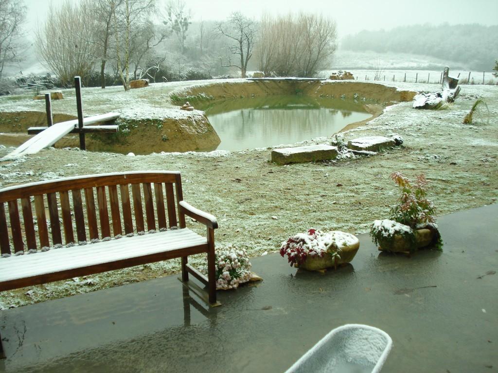 Der erste Schnee in diesem Winter