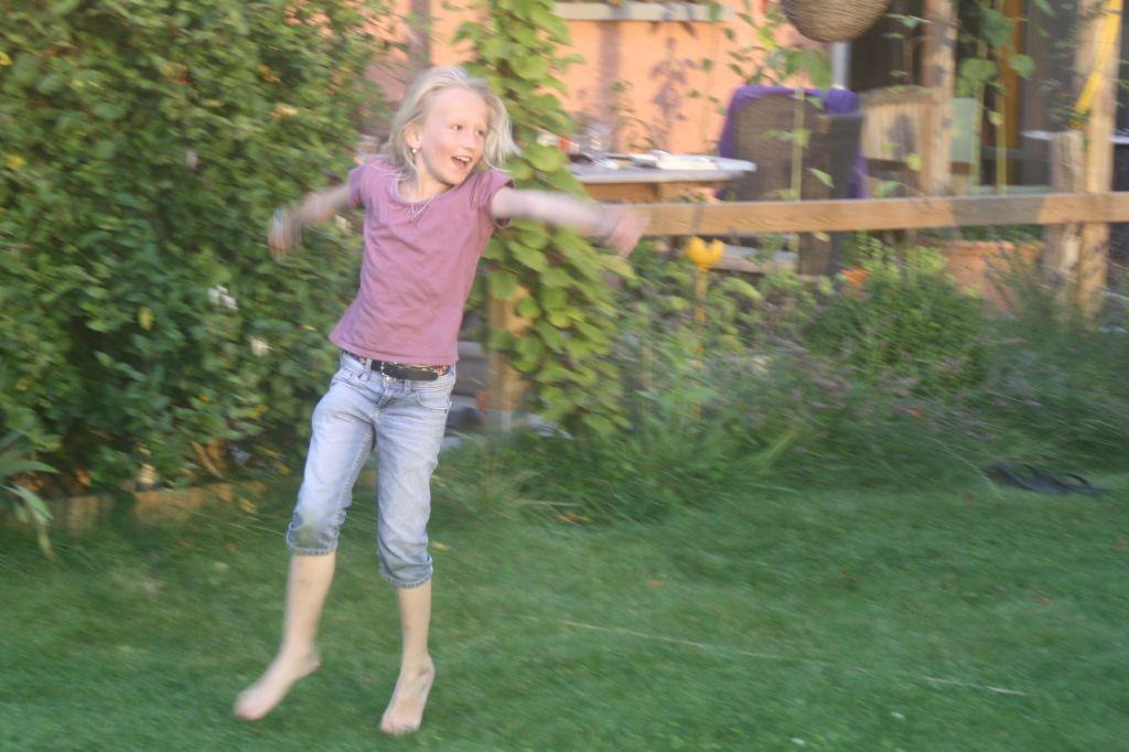 Wettrennen um den Teich - Zora ist happy
