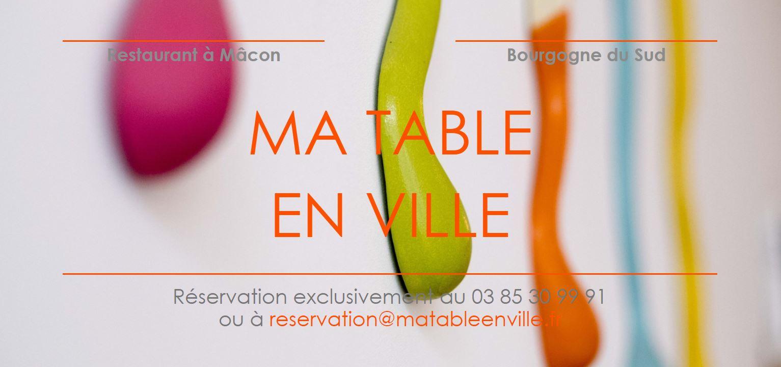 Restaurant Ma Table en Ville à Mâcon