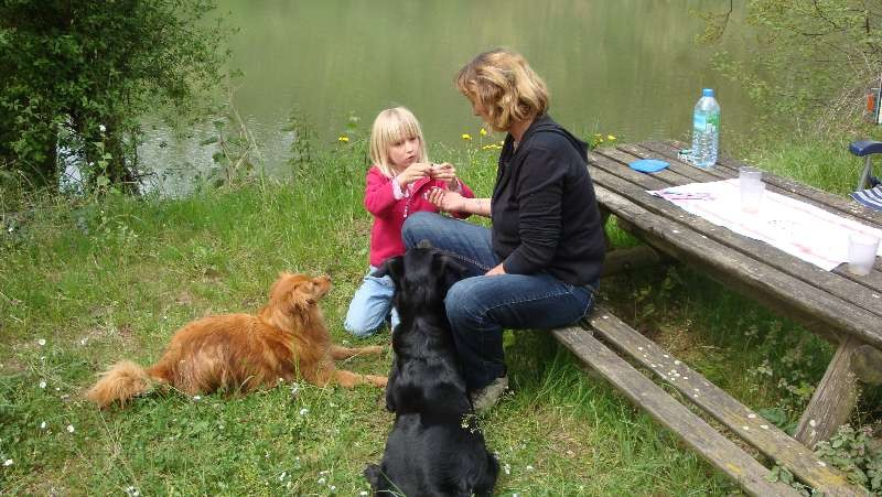 Ausflug und Picknick an der Seille