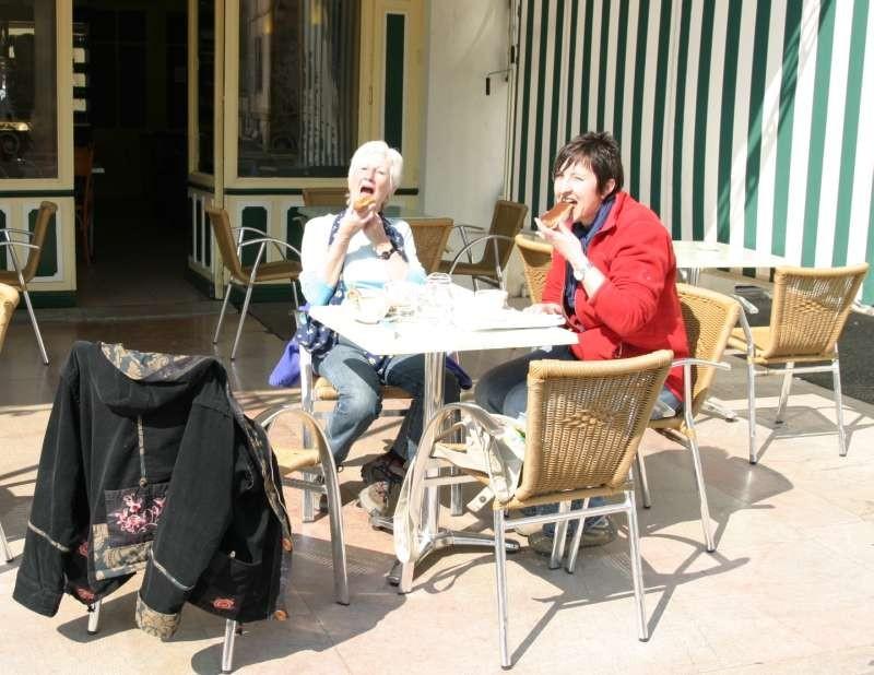 Kaffeeplausch in Louhans