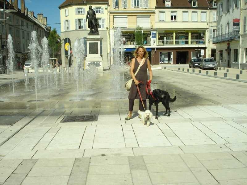Mit Georgettes Hund und Lucke Luke in Lons-le-Sauner