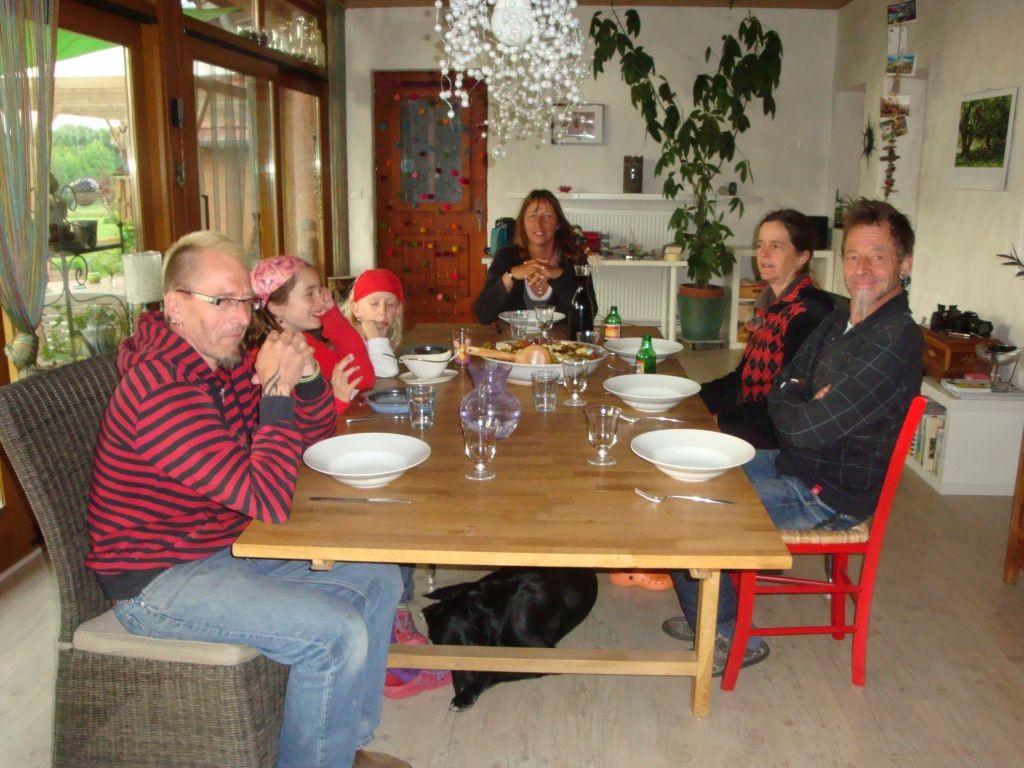 Abendessen in der Veranda