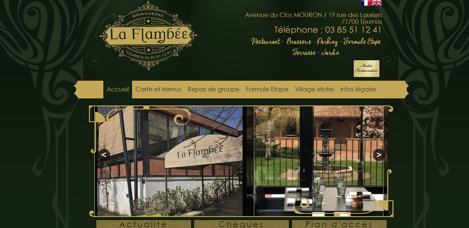 Hotel Restaurant La Flambée à Tournus