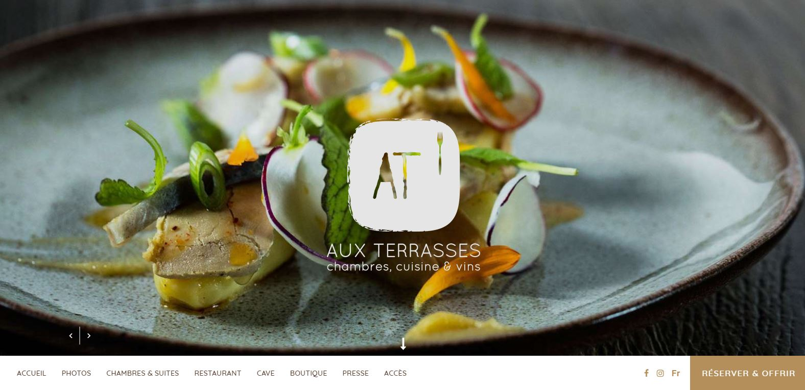 Restaurant Aux Terrasses in Tournus